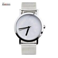 2016 Enmex creative conception montre-bracelet en acier en tricot frabic bande Variable nombre heure main simple design de mode montres à quartz