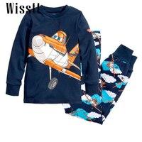 New Kids Planes Pajamas Set Boys Long Sleeve Spring Autumn Sleepwear Clothing Baby Lovely Pyjamas Suit