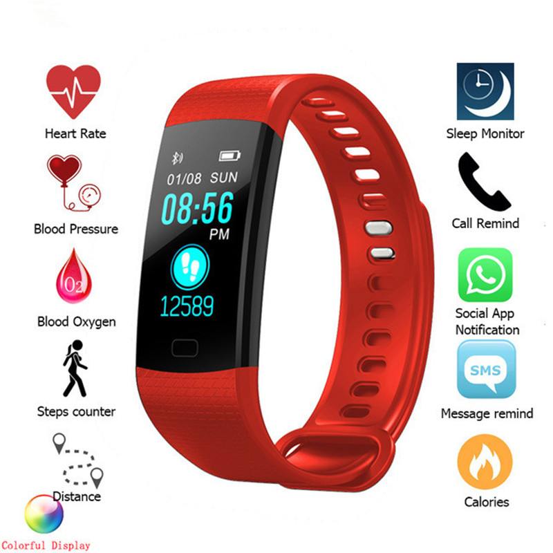 Fitness Bracelet Smart Wristbands Heart Rate Step Count Monitor Blood Pressure Fitness Tracker Smart Woman