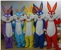 wholesale PROFESSIONAL EASTER BUNNY MASCOT COSTUME Bugs gray Rabbit Hare Adult Fancy Dress Cartoon Suit Fancy Dress