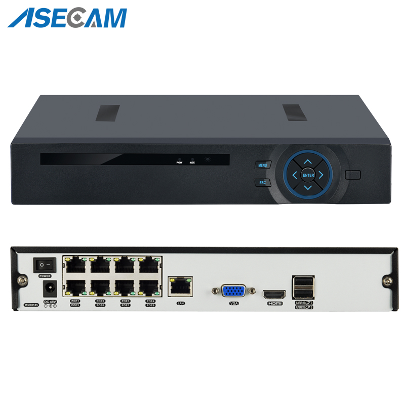 8CH 1080P H.265 POE NVR Onvif IEE802.3af Active 48V PoE NVR All-in-one Network Video Recorder for PoE IP Cameras Xmeye p2p8CH 1080P H.265 POE NVR Onvif IEE802.3af Active 48V PoE NVR All-in-one Network Video Recorder for PoE IP Cameras Xmeye p2p