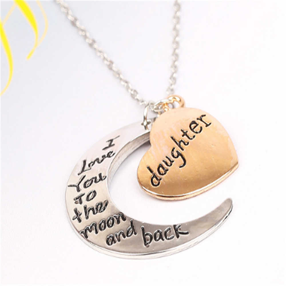 Family Pendant Necklace Choker Chain Daughter Mom Sister Print Christmas Gift Jewelry Stainless Steel Letter Necklace Nameplate
