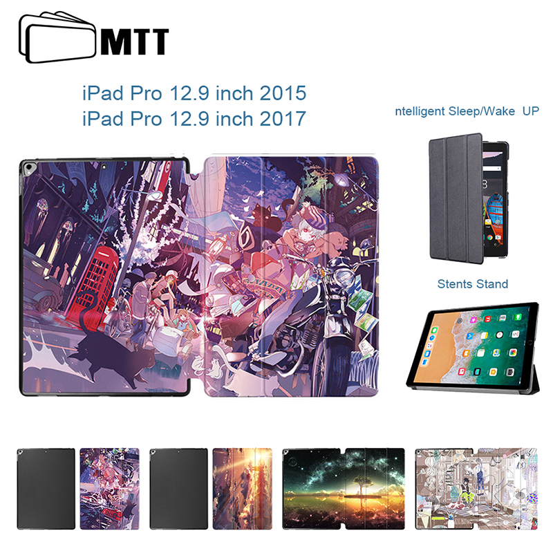 MTT Anime Sky For Apple IPad 12.9 Pro Case Leather Flip Case With Auto Sleep/Wake Smart Cover For IPad Pro 12.9 Inch 2015 2017