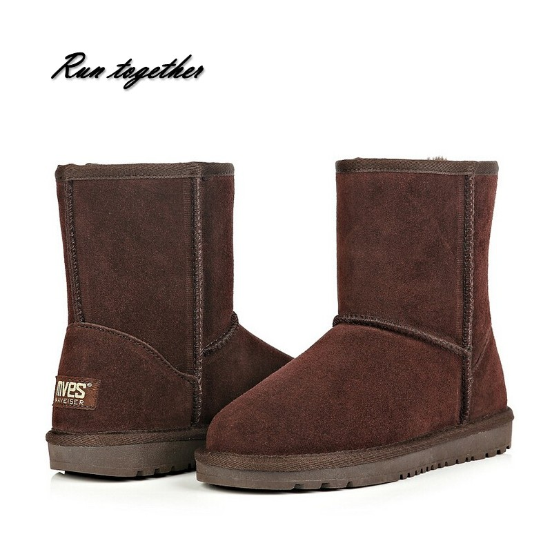 New australia style women snow boots round toe warm winter shoes woman Genuine Leather flat casual boots size 34-44 new australia winter shoes women s snow boots shoes woman sheepskin genuine leather flat ankle boots bowtie 100% wool size 35 44
