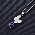 New style Fashion jewelry Silver Plated Long Luxury choker Necklaces & Butterfly Pendants for Women Kids Girl Best Gift 3 Colors
