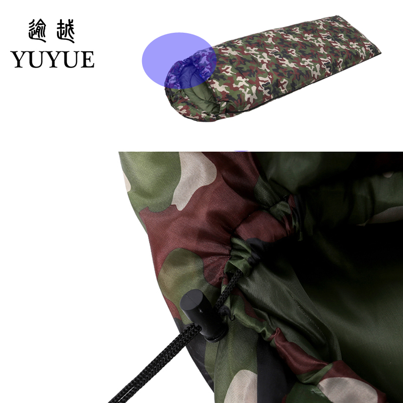 Outdoor military 3 season camouflage sleeping bag cotton for camping tent envelope type equipment for a hundred sleeping bag 5