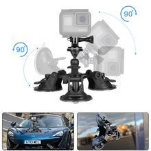 Тройная Вакуумная присоска для крепления на лобовое стекло автомобиля держатель капота для Eken H9R SJ7 Star SJ8 Pro Insta360 ONE X спортивная видеокамера
