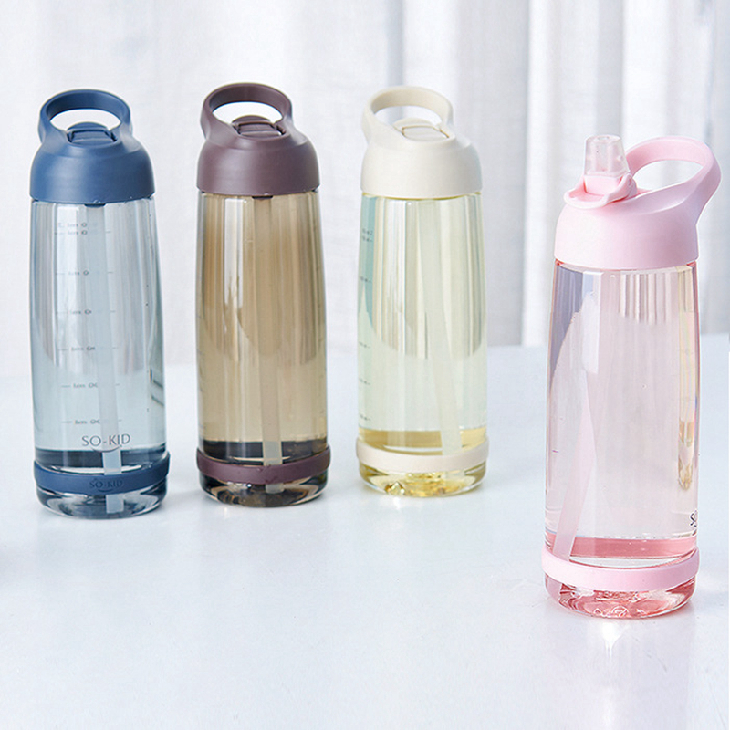 Water Plastic Bottle 550ml 850ml  Gourde En Plastique Sport Shaker Bottle Protein Shaker Drink Bottle Plastic With Straw Travel-in Water Bottles from Home & Garden on AliExpress