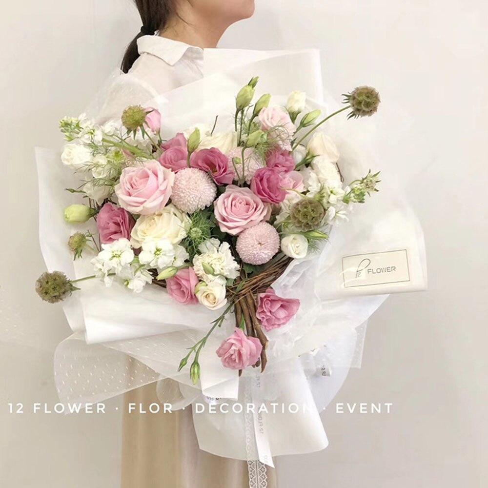 Корейский DIY оберточная сетка для цветов подарочная упаковка материал букет флорист поставки крафт украшения из бумаги для свадьбы 50 см* 5 ярдов