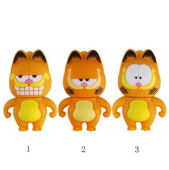 Garfield usb flash drive cartoon pen drive 64gb flash memory stick 128gb 8gb 16gb 32gb pendrive card creative usb disk for gift