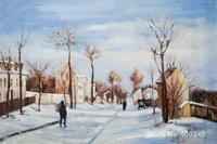 Street in the Snow, Louveciennes ART by Camille Pissarro Paintings on canvas hand painted High quality