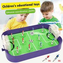 Детская Спортивная игрушка мини настольная футбольная доска Игра настольная футбольная полевая модель строительные блоки Дети Мальчики футбольная игрушка подарок спортивный