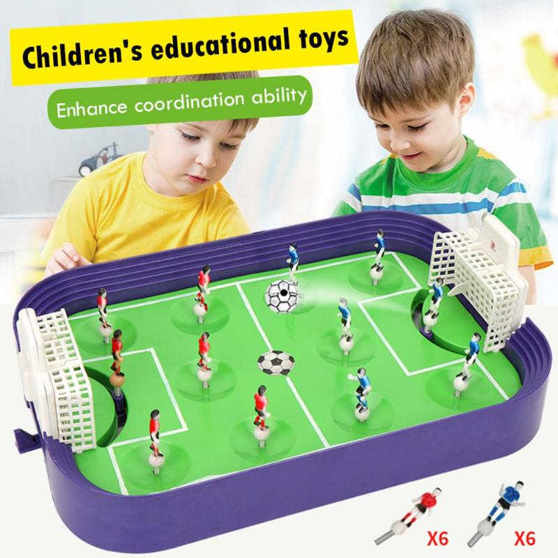 Children Sports Toy Mini Table Football Board Game Desktop Soccer Field Model Building Blocks Kids Boys Soccer Toy Sports Gift