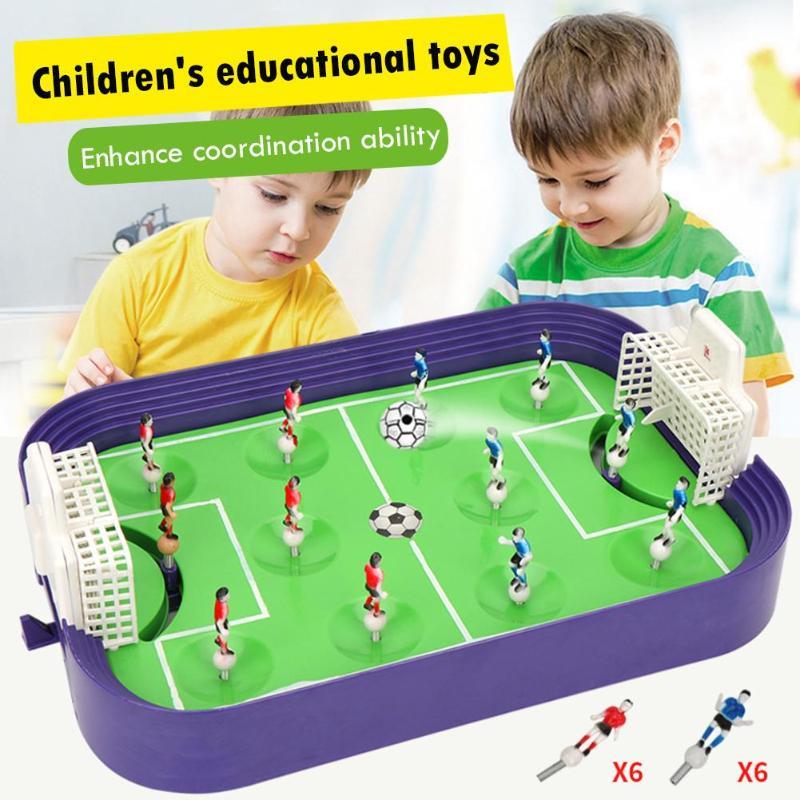 Children Sports Toy Mini Table Football Board Game Desktop Soccer Field Model Building Blocks Kids Boys Soccer Toy Sports Gift