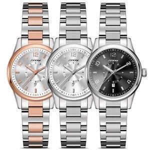 Image 4 - SINOBI 제네바 시계 황금 여성 패션 시계 팔찌 손목 시계 날짜 쿼츠 시계 유명 브랜드 숙녀 Montre Femme