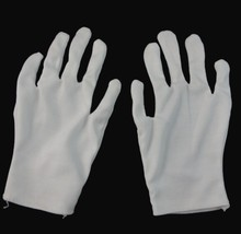 Adult magician white gloves cotton halloween party holiday supplies shuffle dance jewelry care unisex performance