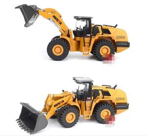 Image 2 - ハイシミュレーション合金エンジニアリング車両モデル、1: 50ローダーシャベルトラックおもちゃ、金属鋳物、おもちゃの車、送料無料