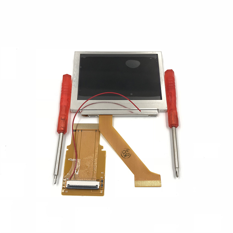 For GBA SP AGS 101 Highlit Screen LCD Backlit Brighter Modify W/32Pin 40Pin Adapter For GBA