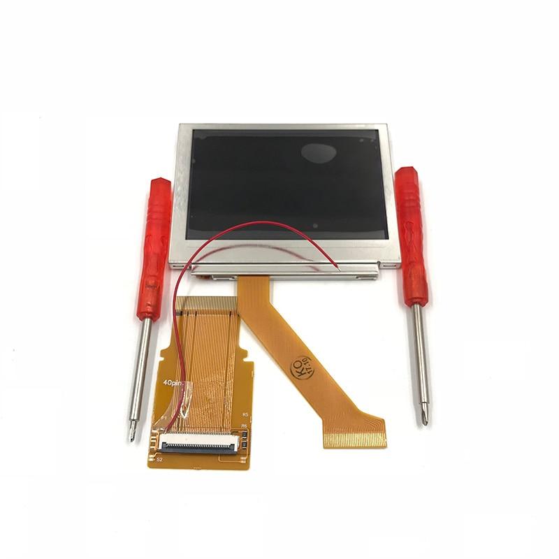 Pour GBA SP AGS 101 Highlit écran LCD rétro-éclairé plus lumineux modifier W/32Pin 40Pin adaptateur pour GBA