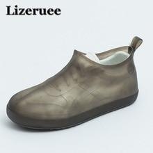 Lizeruee многоразовые водонепроницаемый дождь бахилы резиновые нескользящие ботинок галоши мужские и женские аксессуары KS340