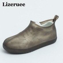 Lizeruee Waterproof Reusable Rain Shoes Covers Rubber Slip-resistant Rain Boot Overshoes Men&Women Shoes Accessories KS340