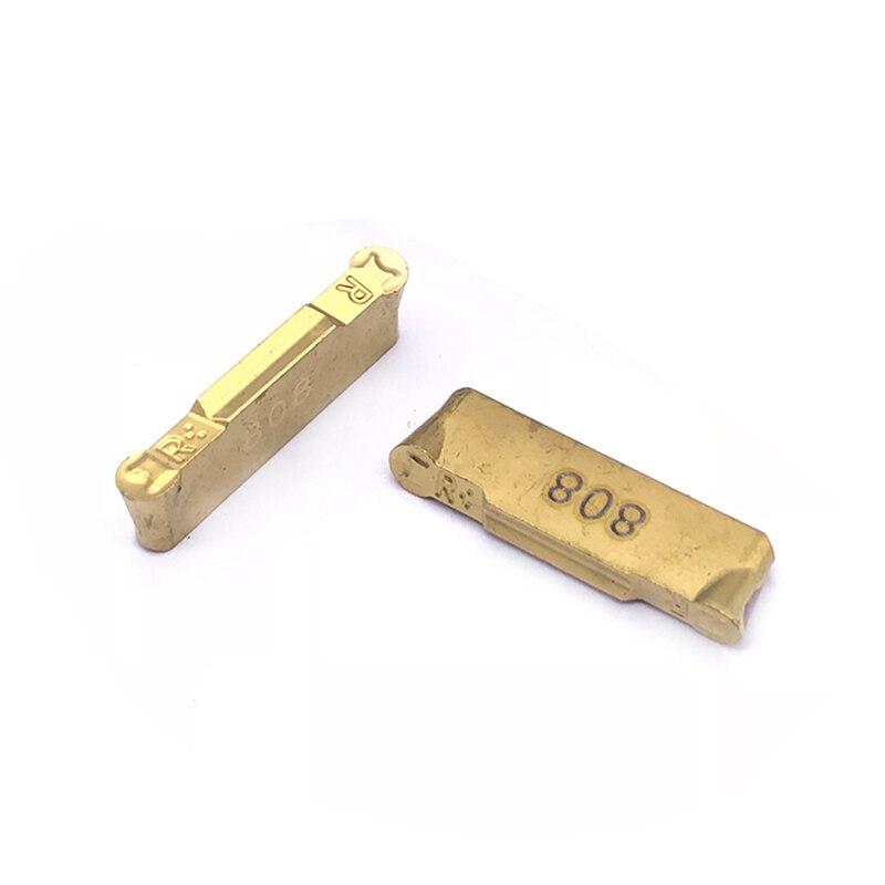 10 peças hfpr3015 ic808 entalhe lâmina ferramenta torno cnc ferramenta de alta qualidade duro moagem lâmina liga ferramenta