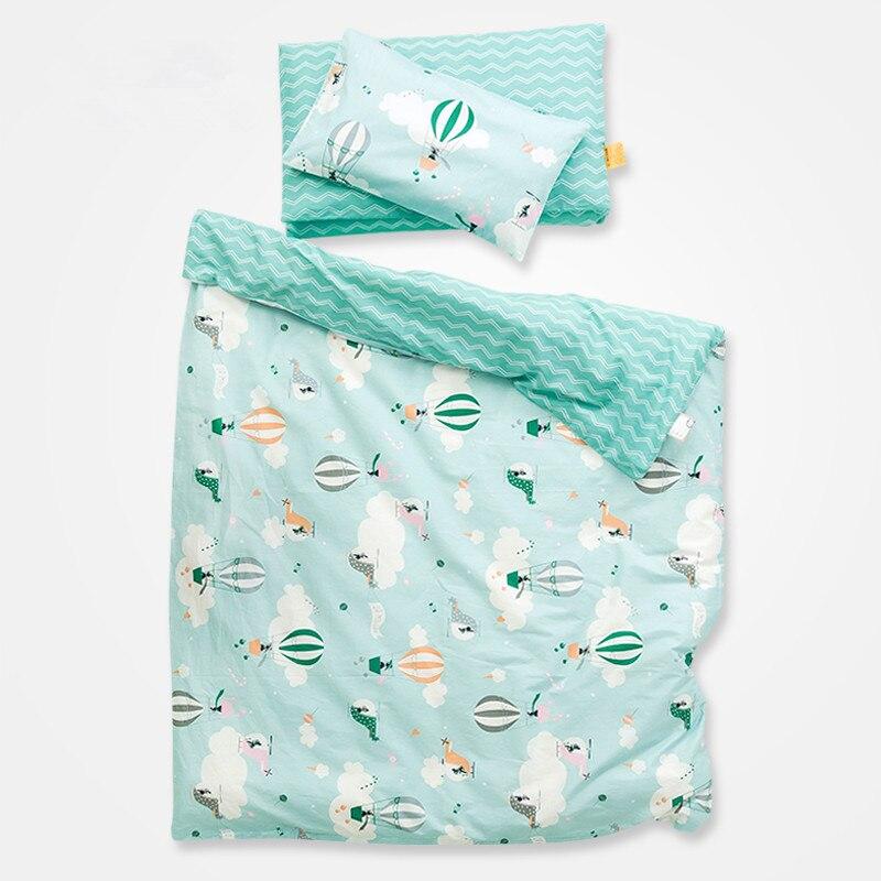 (2 Stücke Ein Satz) 100% Baumwolle 120x150 Cm Baby Bettbezug Und 30x50 Cm Kissenbezug Für Krippe Baby Bett Für Mädchen Jungen