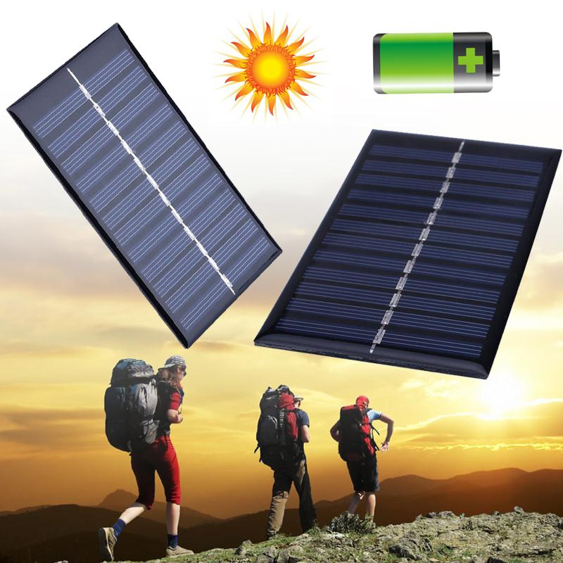 Cewaal 4 pieces mini <font><b>Solar</b></font> <font><b>Panel</b></font> <font><b>Solar</b></font> Cells Portable <font><b>1W</b></font> <font><b>6V</b></font> Monocrystalline Silicon Battery Charger DIY Kits image