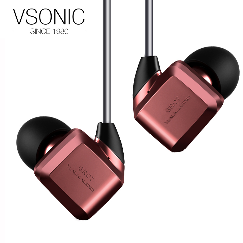 VSONIC NEW GR07 CLASSIC Dynamic Noise Isolation HIFI Earphones vsonic new vsd1s vsd1si professional noise isolation hifi earphones earbuds