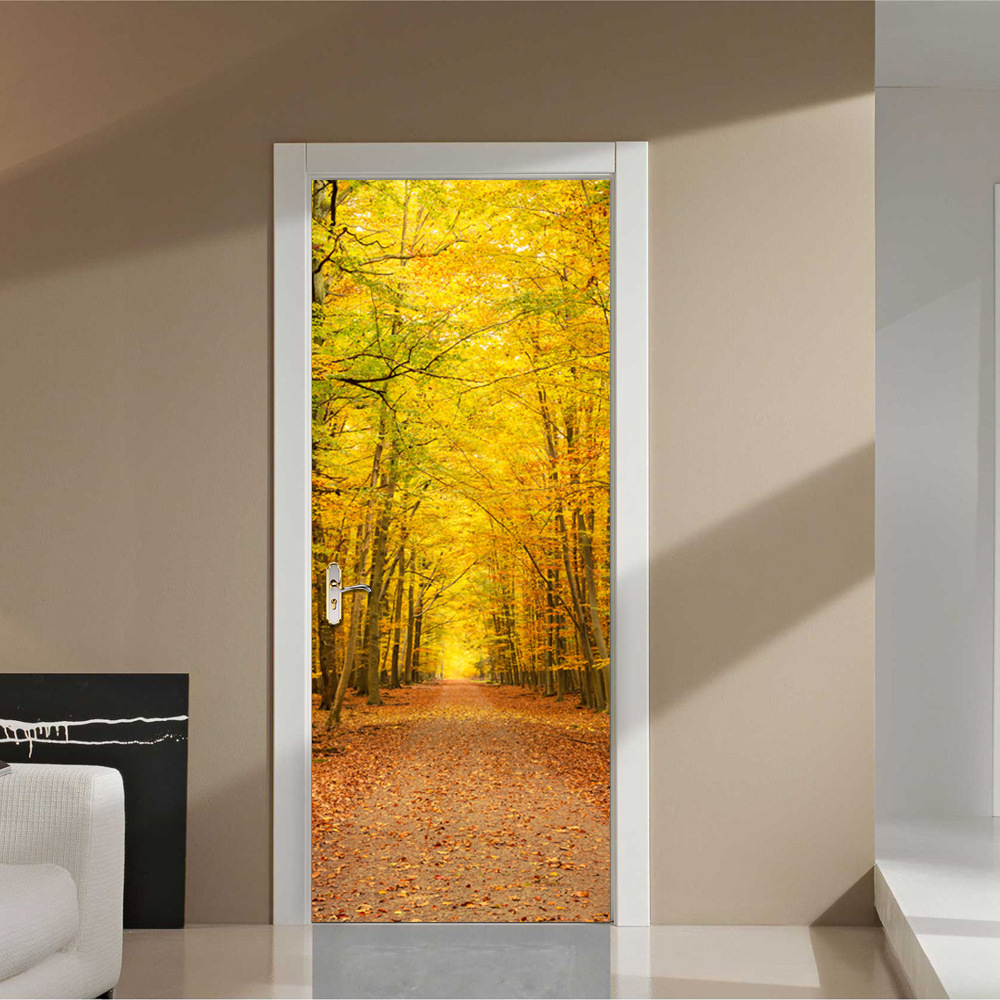 Fall Leaves 3D Decal Door Wall Stickers DIY Mural Bedroom Home Decor ...