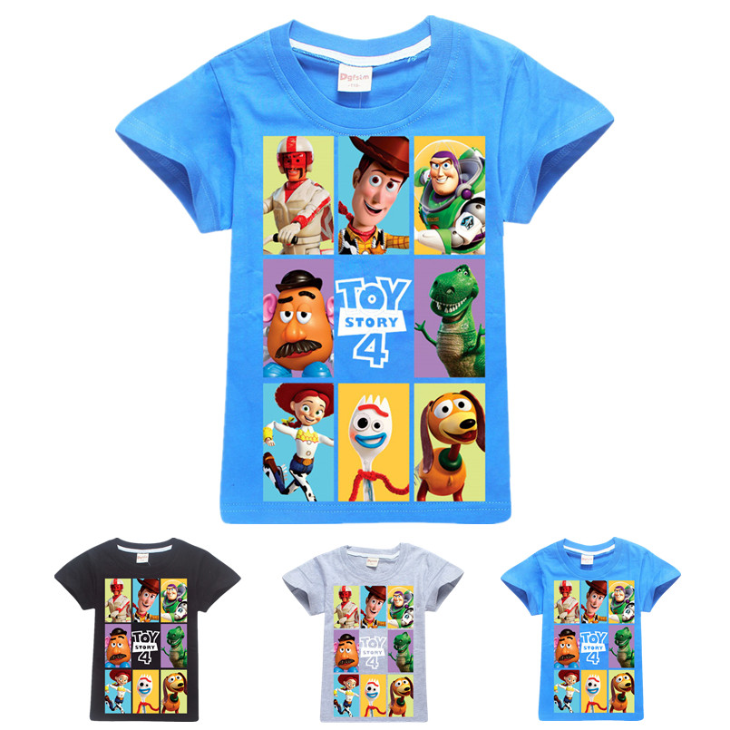 Girls Shirt Toy-Story Cartoon-Toys Minecraft Baby-Boys Summer Cotton