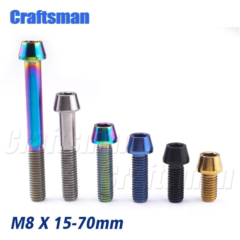 6x Titanium Countersunk M5 x10//12//15//20//25//30//35//40mm Hexagon Socket Screw Bolts