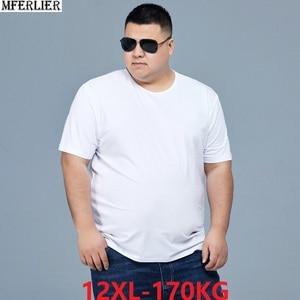 men summer t-shirts short sleeve plus size big sale man Casual 8XL 10XL 12XL simple Home tshirt solid color black tees 60 62 66(China)