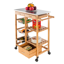 Simple fashion Moveable Kitchen Cart wit