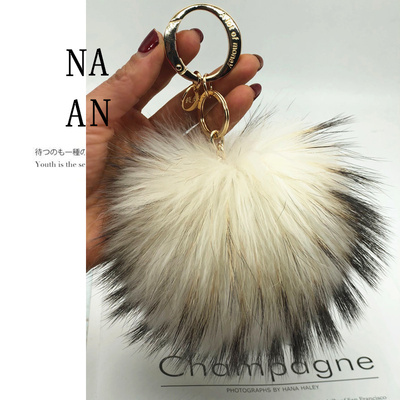 Big 15cm Fluffy Real Fox Fur Ball Pom Poms Fur Pompom Ball High Quality Keychain Car Key Chain Metal Ring Pendant For Women F281Big 15cm Fluffy Real Fox Fur Ball Pom Poms Fur Pompom Ball High Quality Keychain Car Key Chain Metal Ring Pendant For Women F281