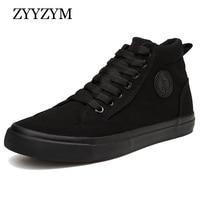 ZYYZYM/обувь для мужчин; сезон весна-осень; коллекция 2019 года; мужская обувь на шнуровке с высоким берцем; Вулканизированная обувь; модная Молод...