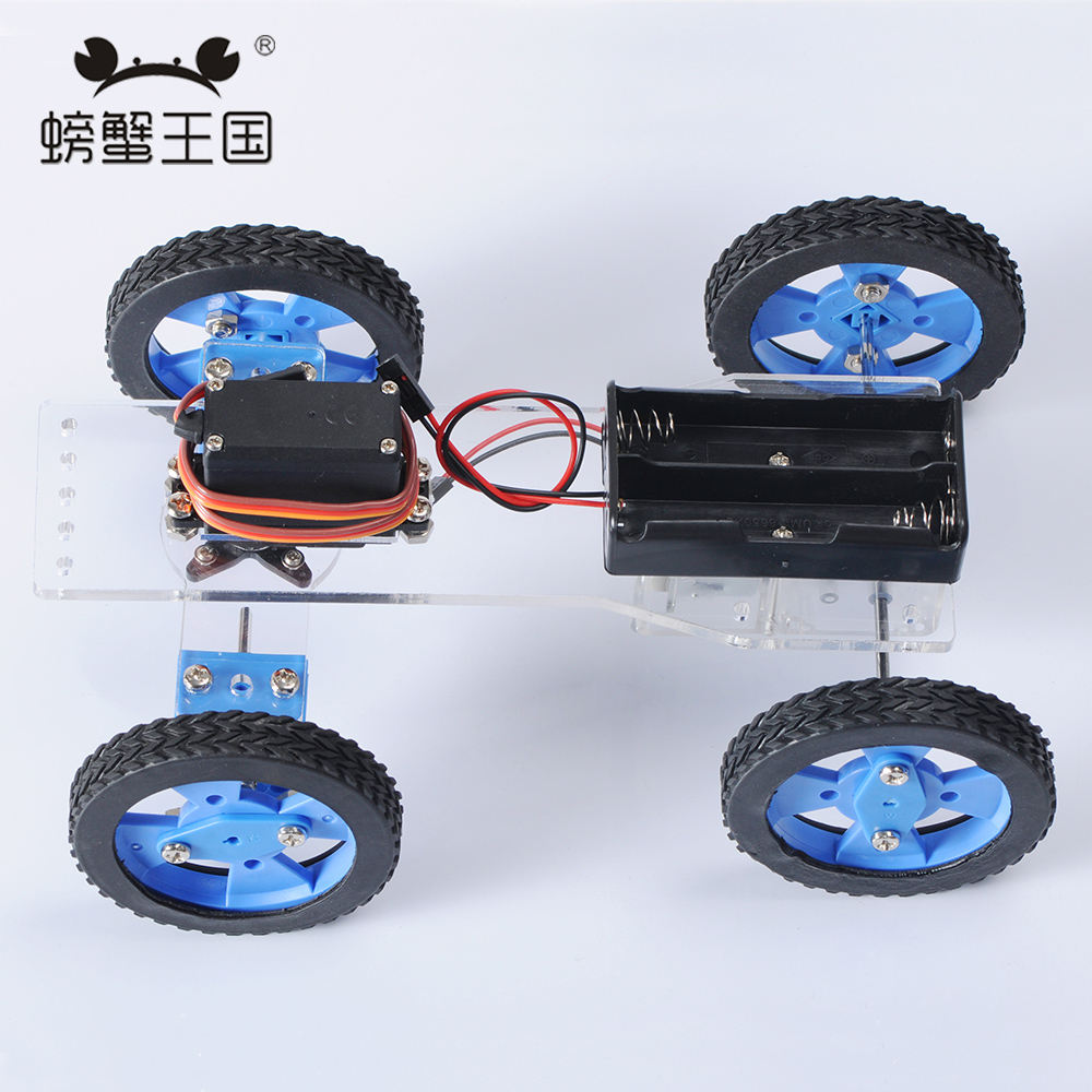 PW M010 DIY Mini RC Car Technology Invention Funny Puzzle Education KD Car Toy wenhsin pw m25 diy mini rc tank with
