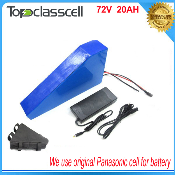 72v 20ah triangle battery 72v ebike battery 72v 3000w li-ion battery pack for electric bicycle with Panasonic cell 48v 34ah triangle lithium battery 48v ebike battery 48v 1000w li ion battery pack for electric bicycle for lg 18650 cell