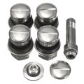 4 Pcs/Set Universal Chrome Stealth Flush mount Car Wheel Tire Tyre Valve Stems Tube Cap