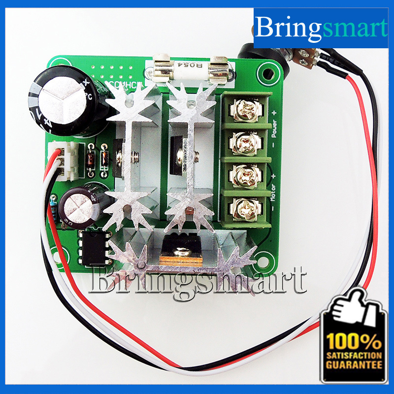 Bringsmart Wholesale CCMHCN PWM DC Motor Speed Controller PLC 15A 6V-90V Insurance With Speed Control Knob цена