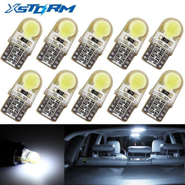 10 sztuk Auto T10 Led Biały Zimny 194 W5W LED 168 COB Krzemionkowy Samochód Super Jasne Turn Boczne Tablicy Rejestracyjnej żarówki Lampy DC 12 v