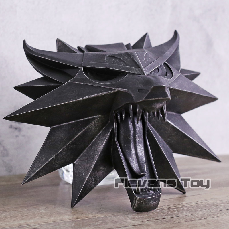 The Witcher 3 Wild Hunt Witch Wolf Wall Sculpture Statue Pvc