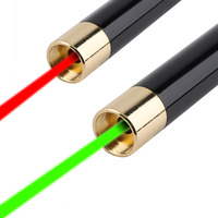 USB Rechargeable Green Red Light Laser Pointer Pen Less 5mW High Power BeamBest Price