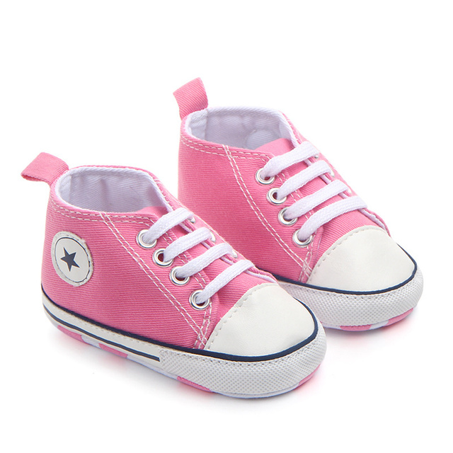 2019 Spring Autumn Canvas Toddler Baby Shoes Girls Boys First Walkers Baby SneakersLace Newborn Baby Moccasins Crib Shoes 3