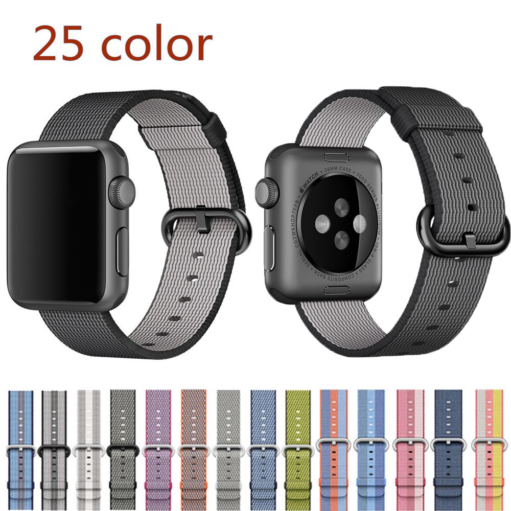 JANSIN Sport woven nylon strap for apple watch band 42mm 38mm wrist bracelet nylon band for iwatch 3/2/1
