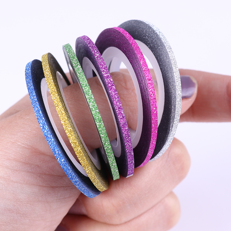 1Pc Nail Striping Tape Line 1mm/2mm/3mm DIY Nail Art Adhesive Decal Nail Decoration Styling Tool 14 rolls glitter scrub nail art striping tape line sticker tips diy mixed colors self adhesive decal tools manicure 1mm 2mm 3mm