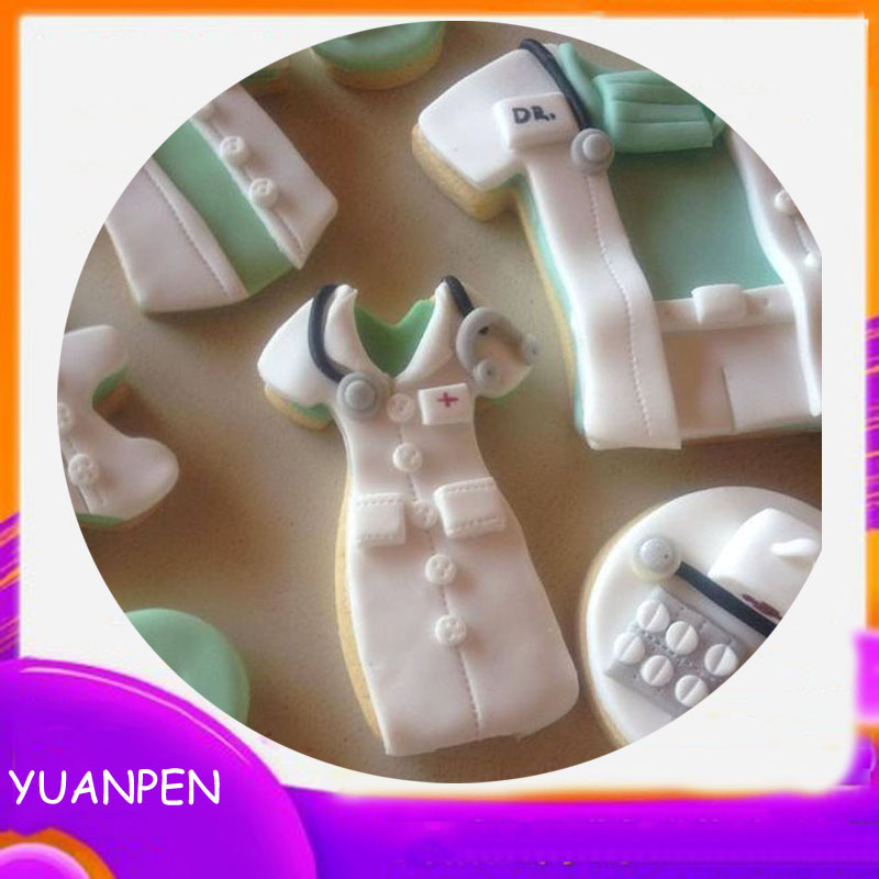 1pcs Nurse clothes dress metal cookies cutter gateau biscuit pastry mold Mousse Fondant cake decorating tool Birthday party(China)
