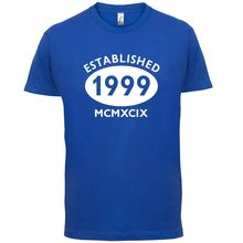 1999 Roman Numerals - 17th Birthday Mens T-Shirt 13 Colours Gift Present Print T Shirt Short Sleeve Hot Black Style