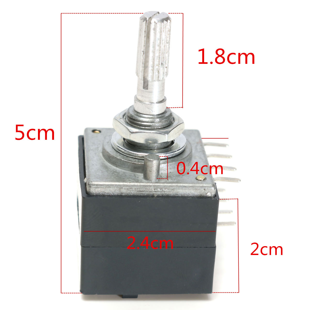 Potentiometer 100k Log Audio Amp Volume Control Pot Stereo W Loudness For Alsp New Arrival High Quality Potentiometers In From Electronic