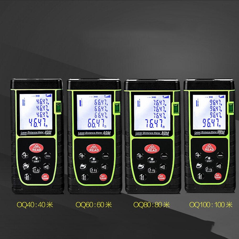 40M Digital laser rangefinder handheld distance meter trena Laser range finder Area-volume-Angle tape measure tool